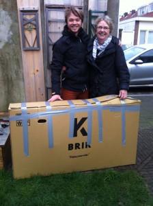 Brik fiets met Lieke en Wouter